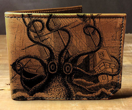 Leather Octopus Wallet