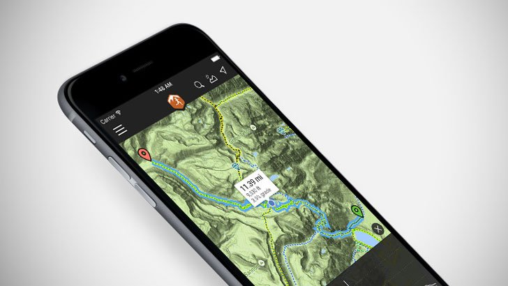 MTB Project & Powder Project App - camping apps