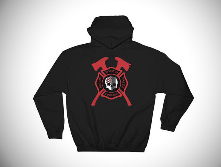 Maltese Cross Skull Firefighter Hoodie