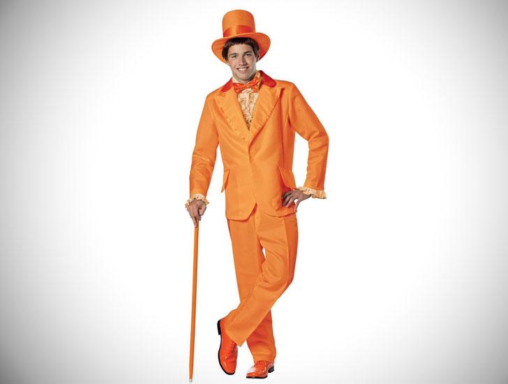 Men's Dumb & Dumber Orange Tuxedo Costume