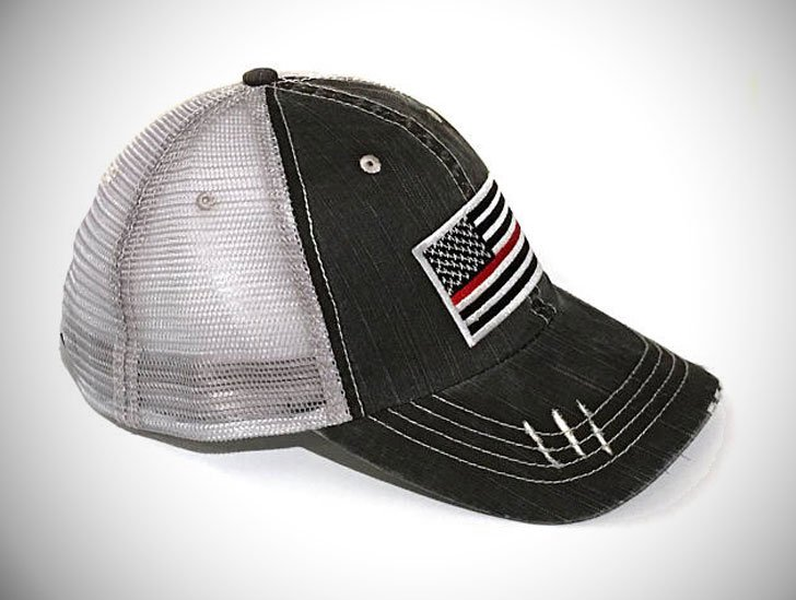 Men's Thin Red Line Flag Baseball Cap