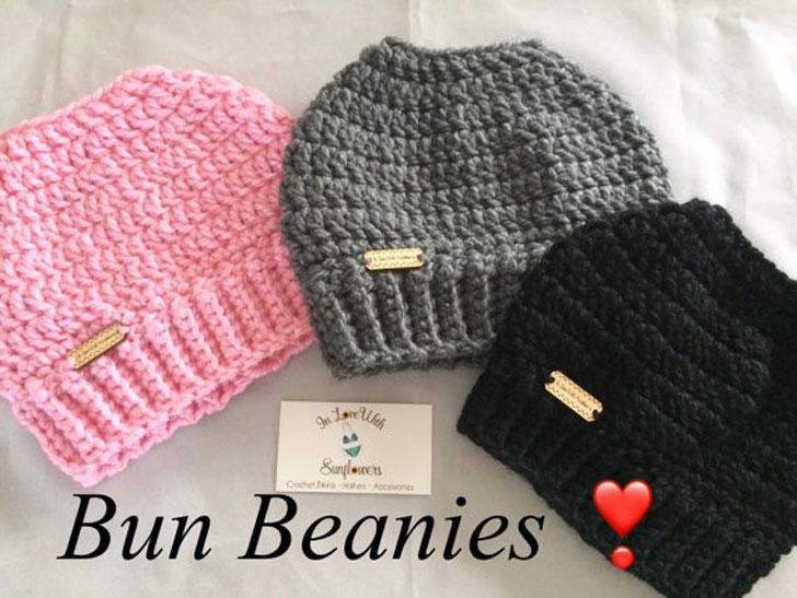 Messy Bun Beanies