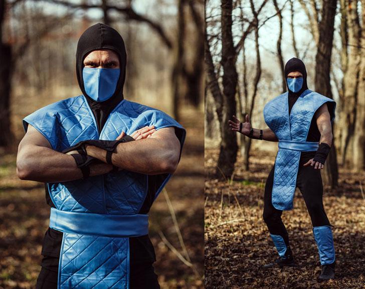 Mortal Kombat Video Game Sub Zero Cosplay Costume - Cosplay Ideas For Guys