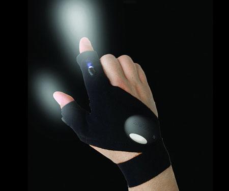 Outdoor LED Fingerless Gloves