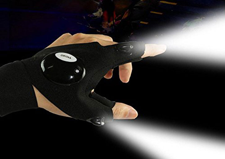 Outdoor LED Fingerless Gloves