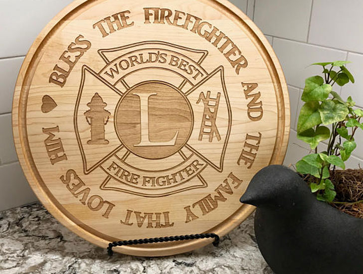 Personalised Firefighter Cutting Board