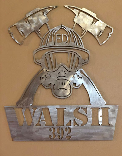 Personalized Aluminum Firefighter Sign