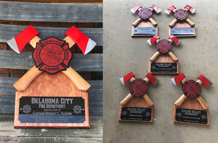 Personalized Crossed Axe Firefighter Gift & 50+ GREATEST Fireman Gifts For Firefighters You Can Buy!