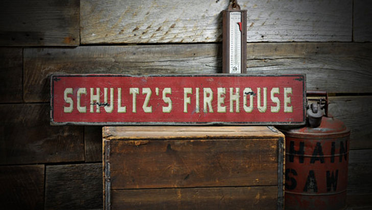 Personalized Custom Made Fireman Sign