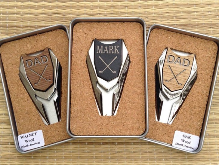 Personalized Engraved Golf Ball Marker Divot Tools