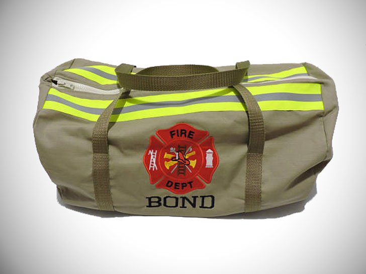 personalized firefighters duffel bag