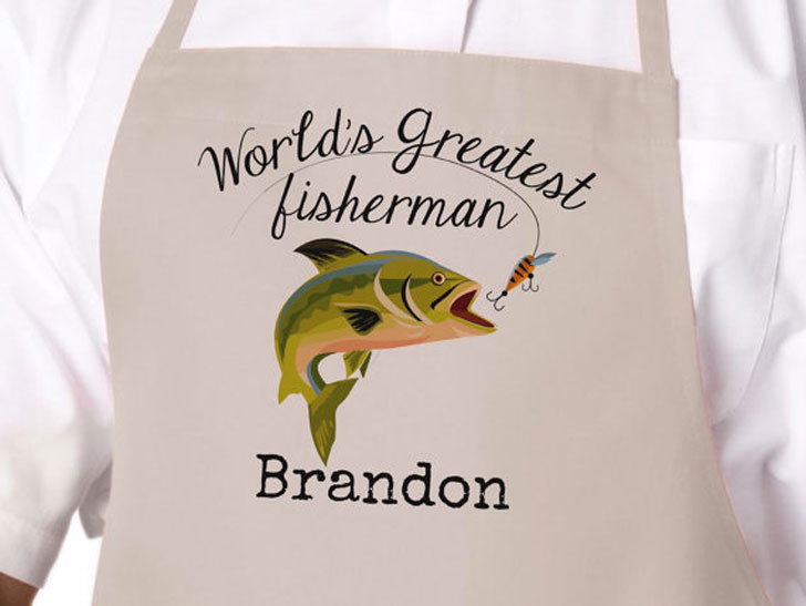 Personalized Fisherman's Apron