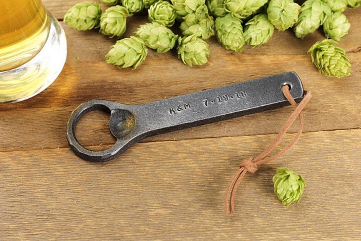 Personalized Hand Forged Blacksmith Made Bottle Openers