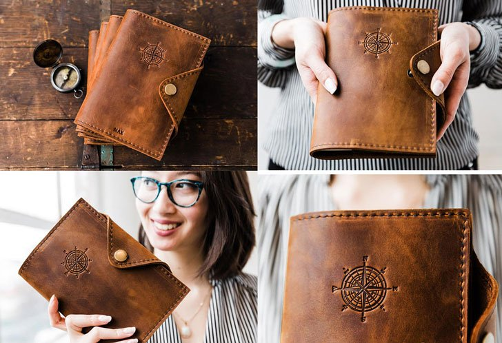 Personalized Leather Notebook Journals