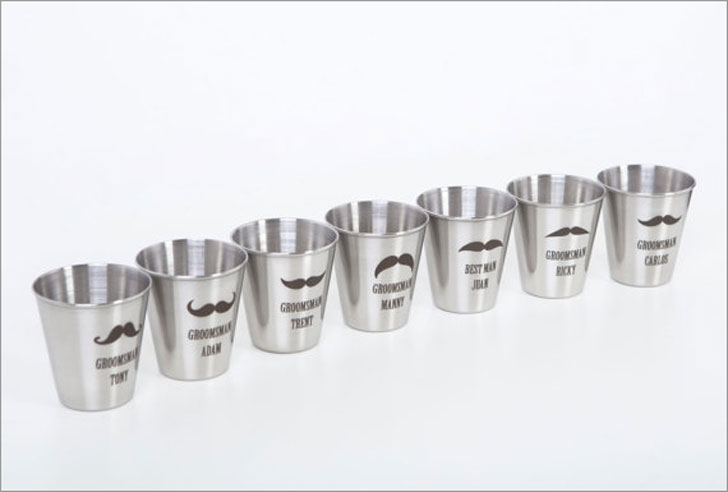 Personalized Mustache Shot Glasses