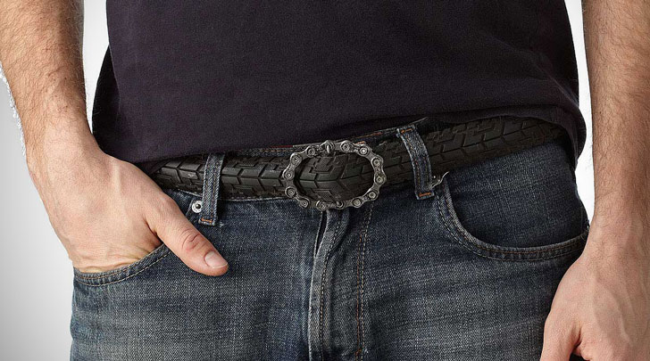 Recycled Bike Tread Belts