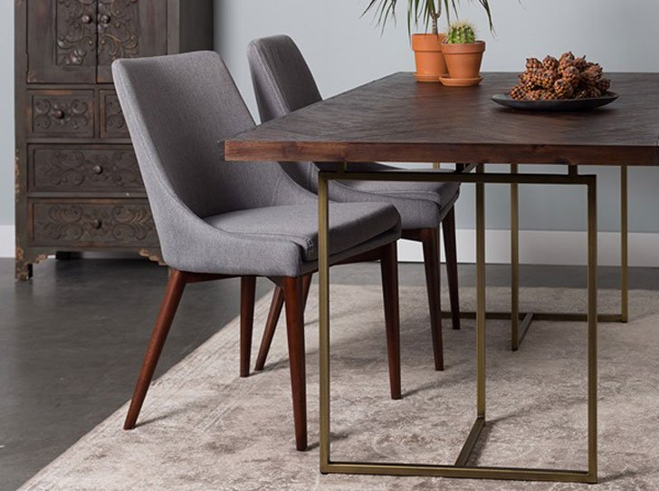 Retro Herringbone Design Dutchbone Dining Table
