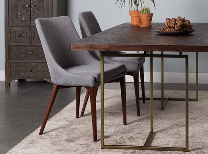 Retro Herringbone Design Dutchbone Dining Table