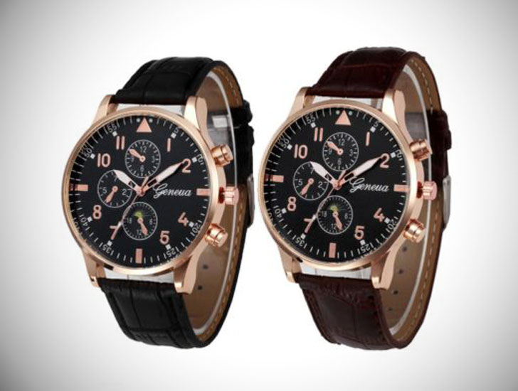 Retro Onlooker Analog Wrist Watch for Couples
