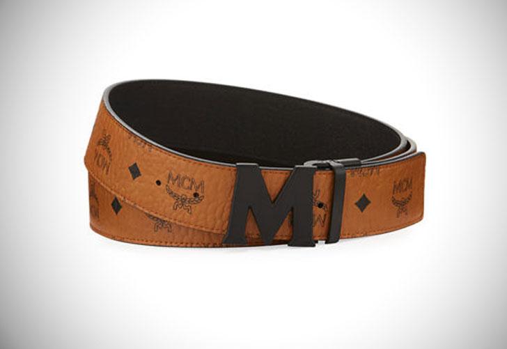 Reversible Signature Leather MCM Belt