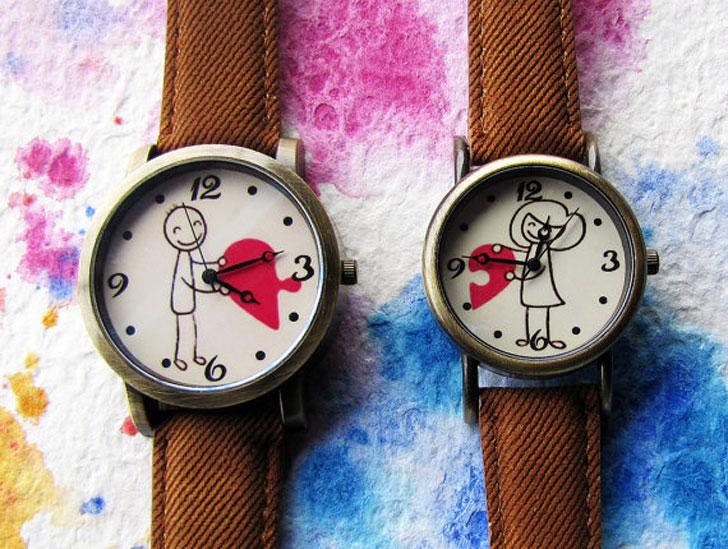 Romantic Love Couples Wristwatch Set