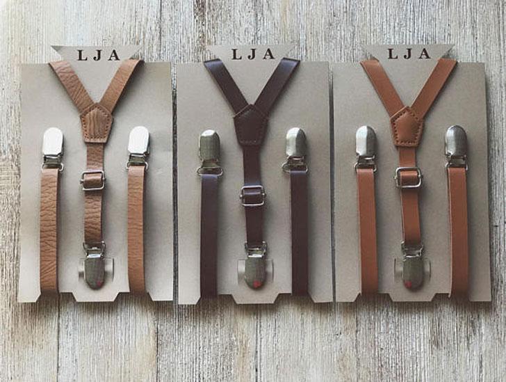 Rustic Wedding Suspenders