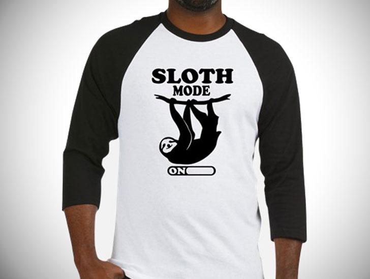 Sloth MODE ON Baseball T-Shirt