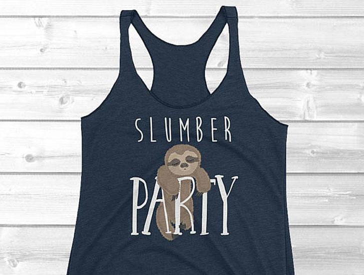Slumber Party Sloth Singlet