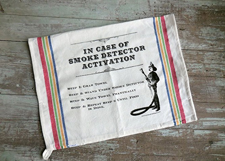 Smoke Detector Deactivation Towel