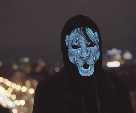 Sound Reactive LED Masks
