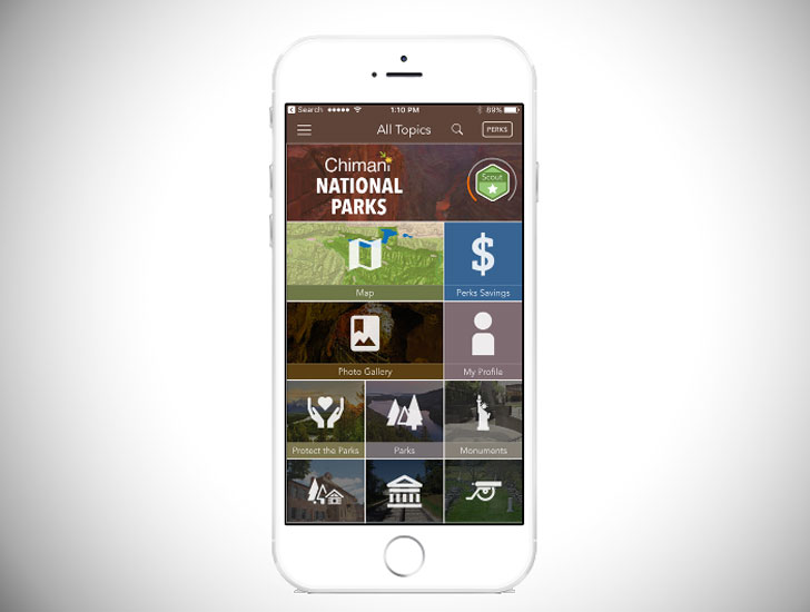 he Chimani National Parks Guide App