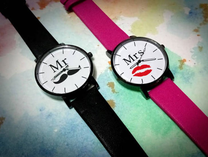 The Mr & Mrs Couples Watch Set