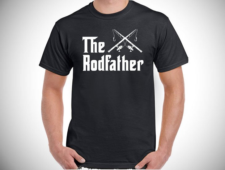The Rodfather Mens Funny Fishing T-Shirt