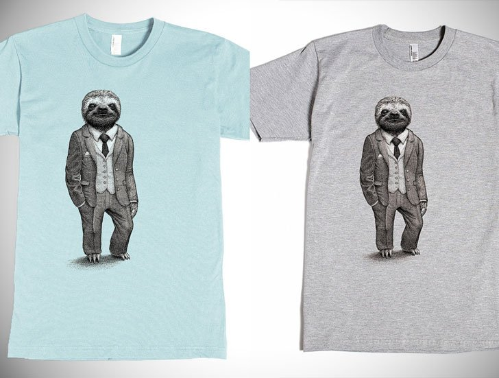 The Stylish Sloth Graphic Tee