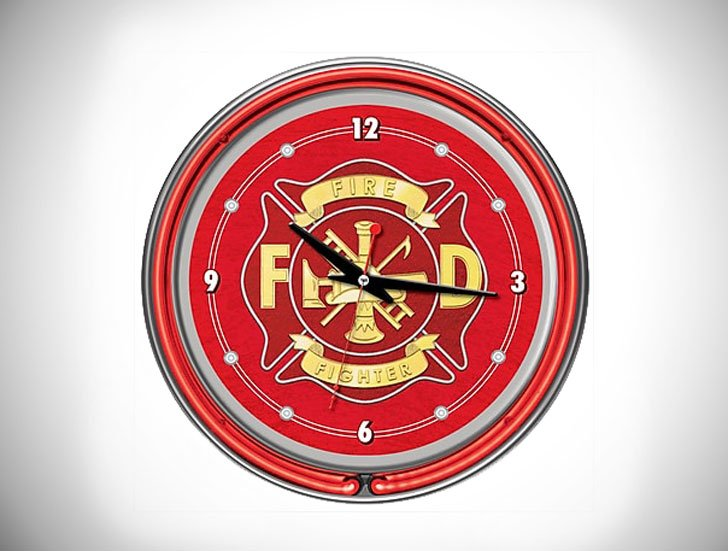 Trademark Global Fire Fighter Wall Clock