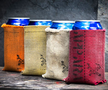 Up-Cycled Firefighters Hose Can Coolers