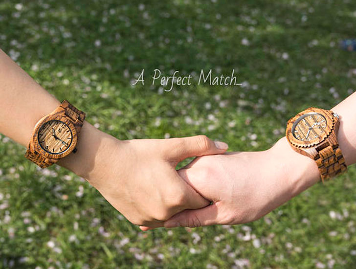 Urban Designers Wooden Personalised engraved Matching Watch Set