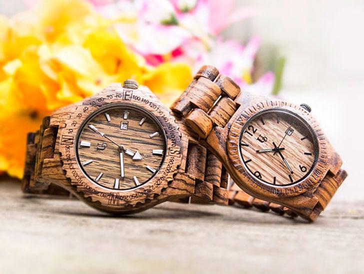 Urban Designers Wooden Personalised engraved Matching Watch Set