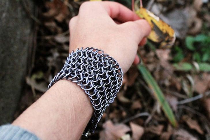 Warrior Chainmail Cuff Bracelet