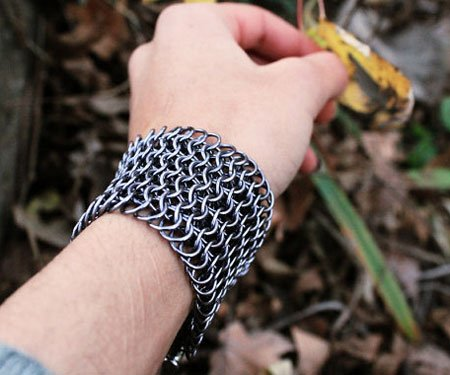 Warrior Chainmail Cuff Bracelet