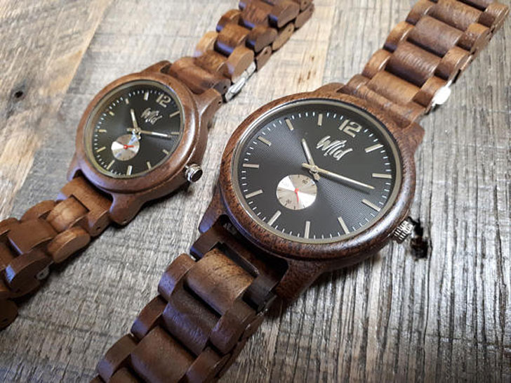 Wild Watches Couples Anniversary Watch Gift Set