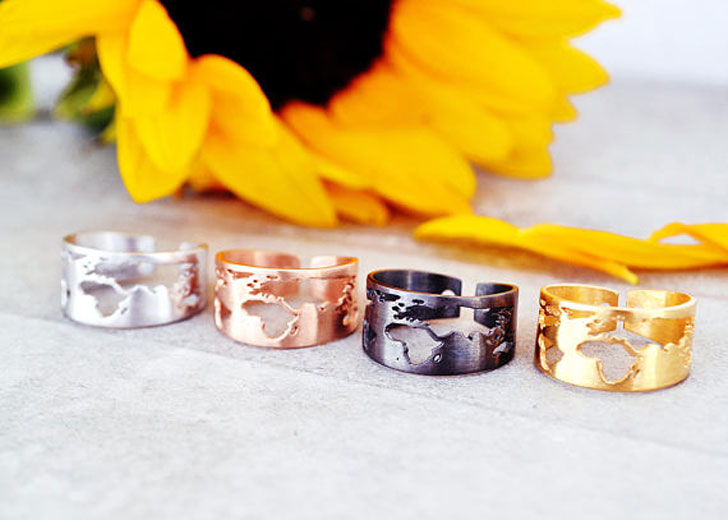 World Map Rings