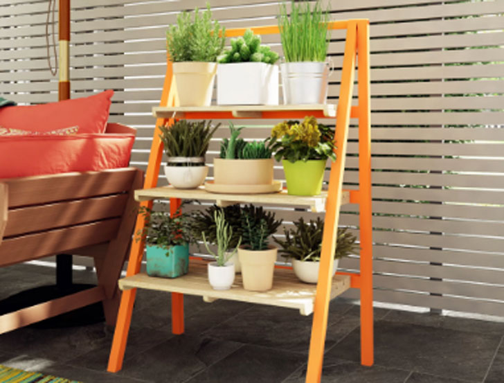 Alzado Multi-Tiered Plant Stand