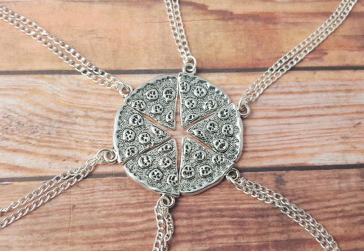 6-Slice Pizza Friendship Necklaces