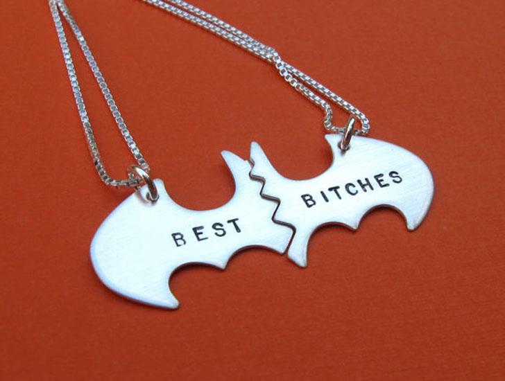 Batman BFF Necklaces - best friendship necklaces
