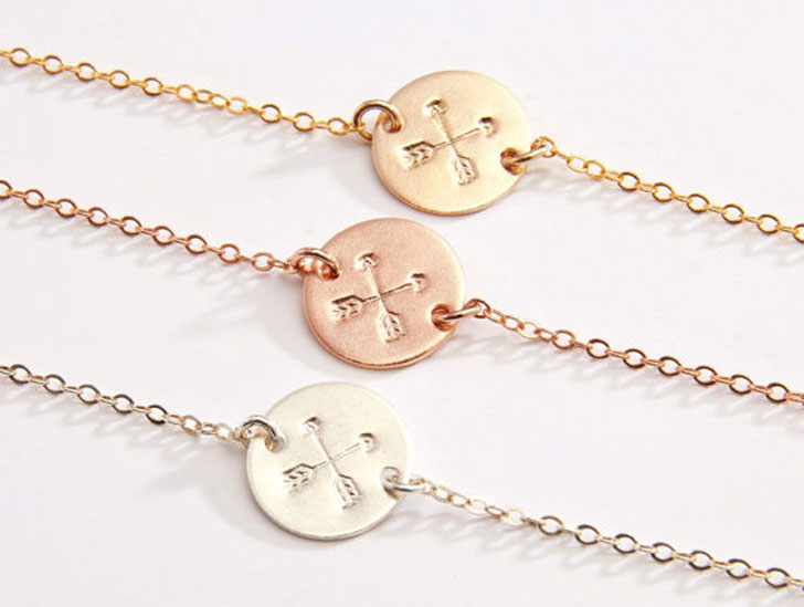 Best Friendship Crossed Arrows Necklace - best friendship necklaces