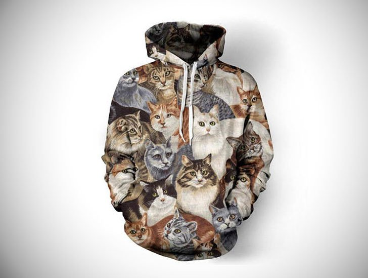 Cat Scene Hoody - Cat Gifts For Cat Lovers