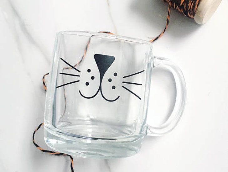 Cat Whiskers Glass Mug