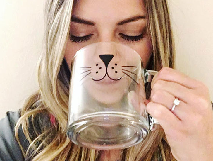 Cat Whiskers Glass Mug - Cat Gifts For Cat Lovers