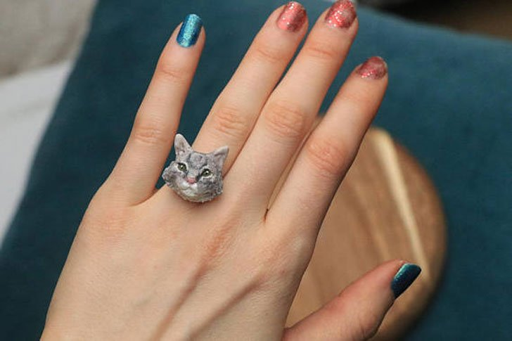 Custom Made Cat Ring - Cat Gifts For Cat Lovers